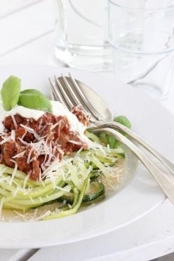 Squash-spaghetti Bolognese