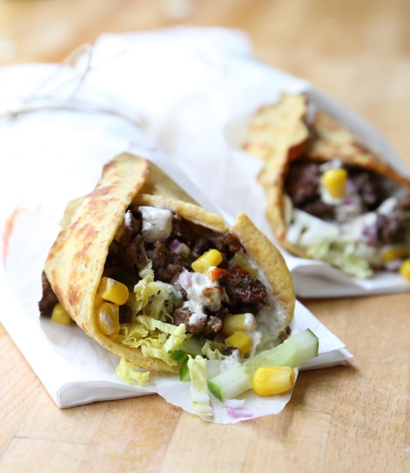 Döner Kebab Salad Wraps - low carb and gluten free