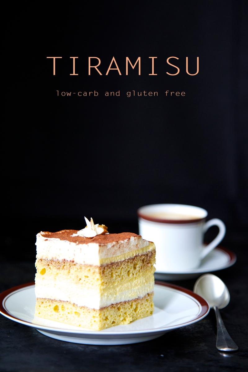 Tiramisu, low-carb, gluten and sugar free