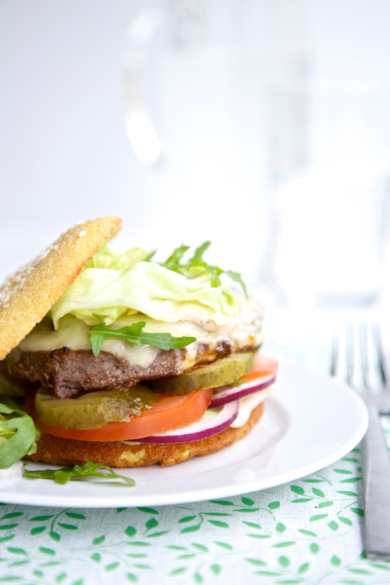Hamburger buns, low-carb and gluten free