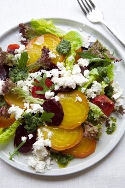 Beet and Feta Salad with Dill-Horseradish Pesto