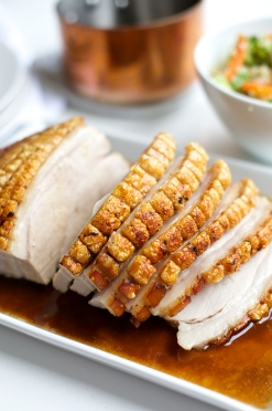 Perfectly cooked Pork Roast with Chili and Ginger