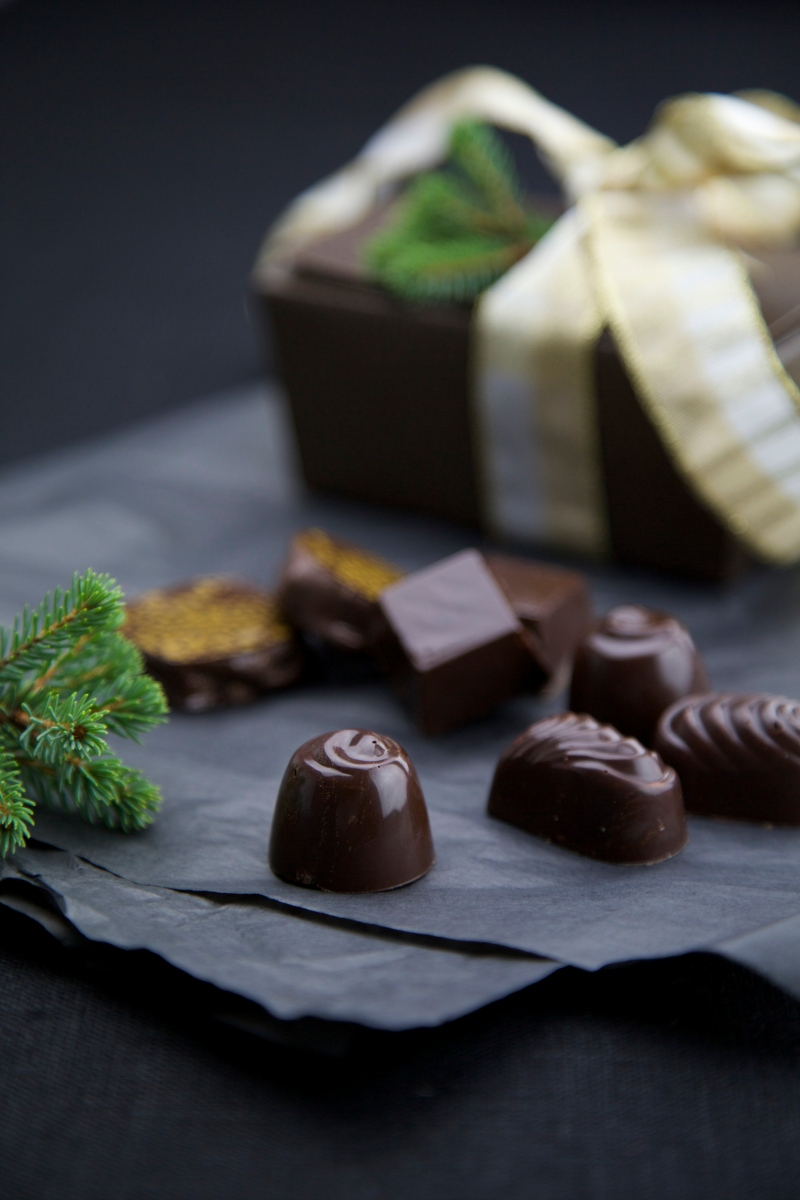Homemade chocolate confectionery