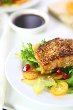Easy Sesame Salmon Salad