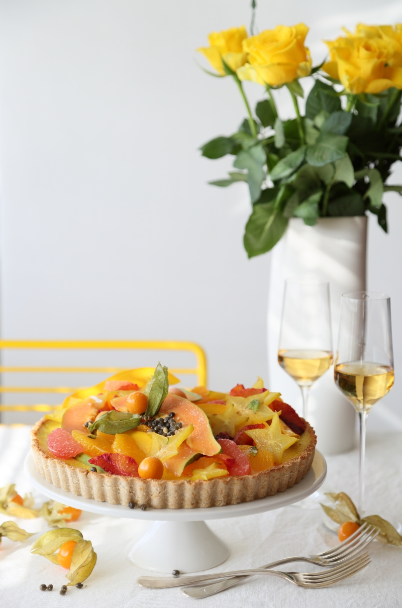 French Tarte Aux Fruits – Low-carb and Gluten Free