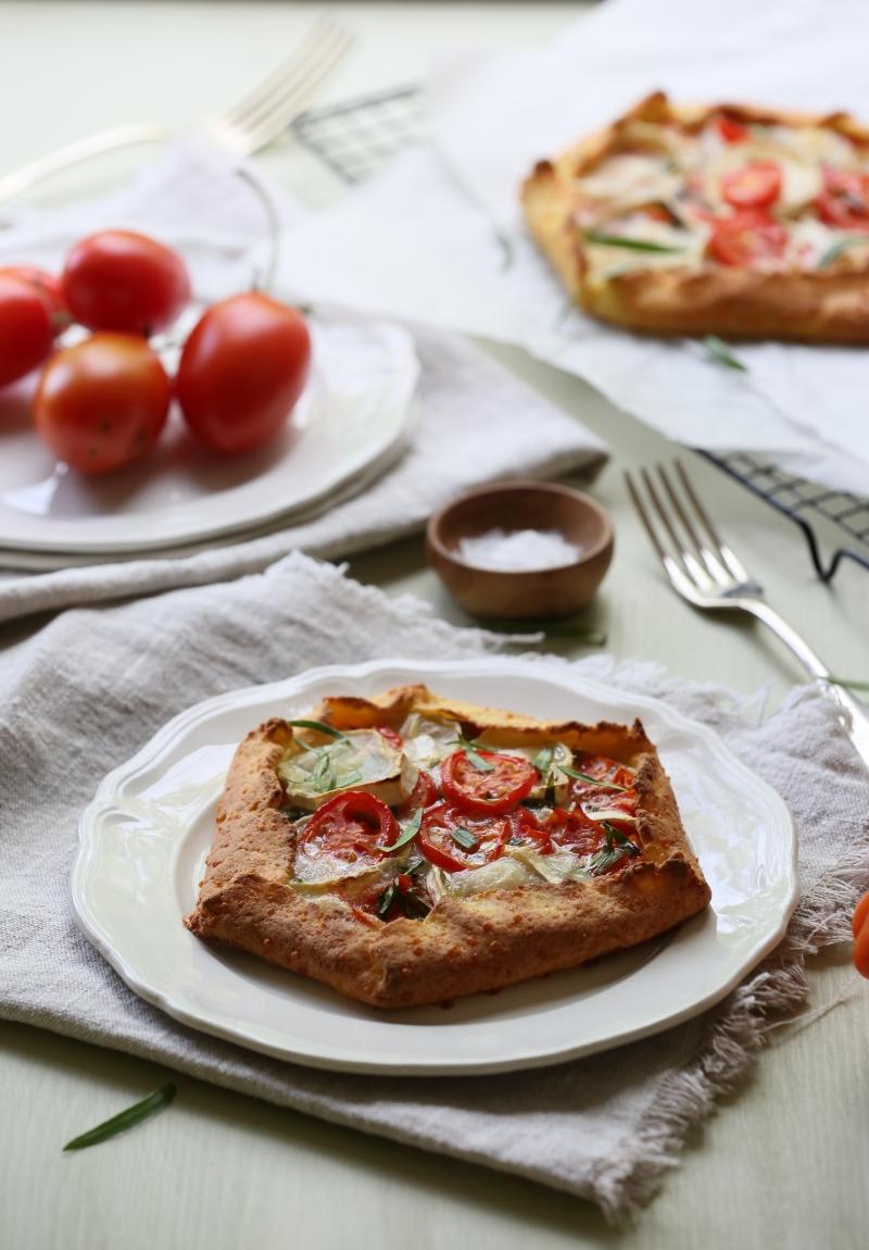 Tomato, Tarragon and Chévre Galette